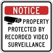 Property Protected Raleigh Mall By Seasonal Wrap Introduction Recorded Video - 18x18 Sign Surveillance