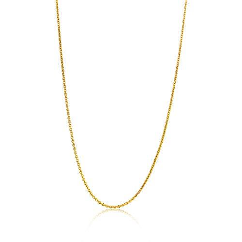 Miore Kette Damen Anker Halskette Gelbgold 14 Karat / 585 Gold, Länge 45 cm Schmuck