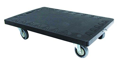T-EQUIP - Plataforma con ruedas para transportar cargas de hasta 250kg, 61 x 415 x 17,3cm (negro)