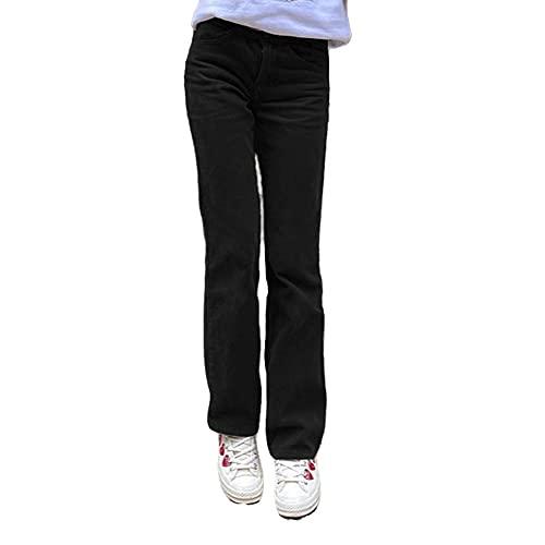 N\P Pantalones de pana de cintura media para mujer
