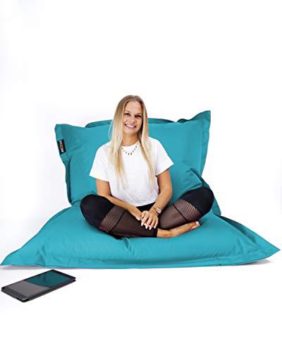 SNOOZER® Riesensitzsack Bean Bag Sitzkissen Indoor Outdoor XXL Sitzsack 400l Füllung (Aqua)