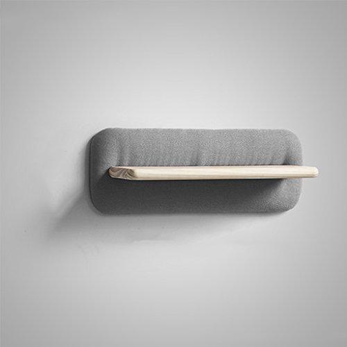 HTDZDX Estante de Pared Suave del sofá del paño, decoración Creativa de la Pared de la suspensión de la Sala de Estar -60 * 22cm (Color : Gray)