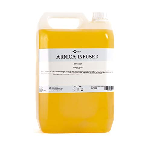 Mystic Moments Huile Infusée d'Arnica - 5 Litres - Arnica Montana