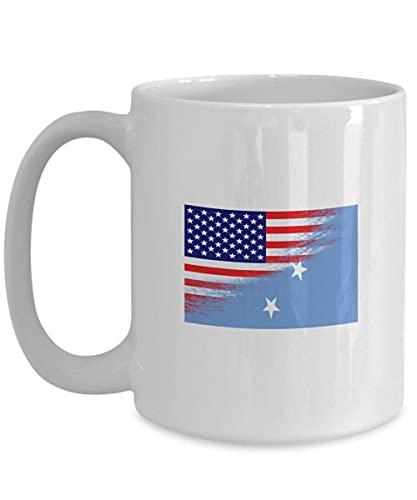 N\A USA Mikronesien Flagge polynesische weiße Kaffeetasse Teetasse