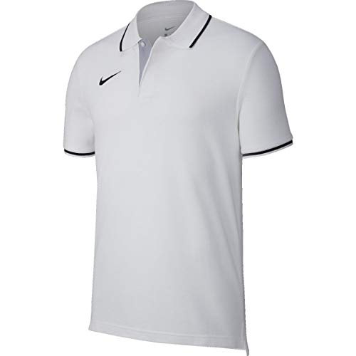 Nike Team Club19 Ss, Maglietta Polo A Maniche Corte Uomo, Bianco (White/Black), XL