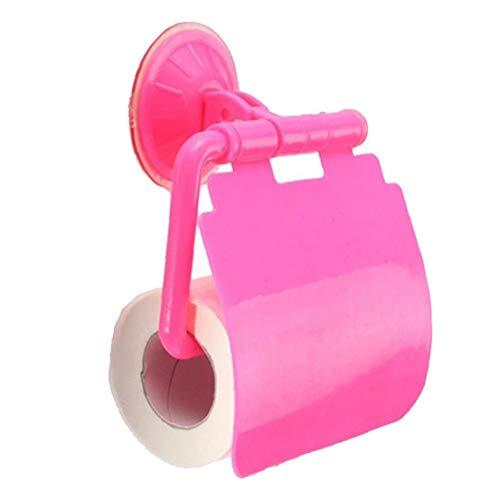 BYFRI 1pc Zubehör Für Das Badezimmer Wand Befestigten Kunststoff Saugnapf Badezimmer WC Papierrollenhalter Toilettenpapierhalter...