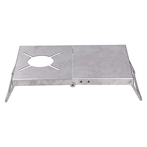 BOLORAMO Mesa de Camping, Mesa de Estufa Plegable Multifuncional compacta con una Bolsa de Almacenamiento Duradera para Comer, Cortar, cocinar para Actividades al Aire Libre