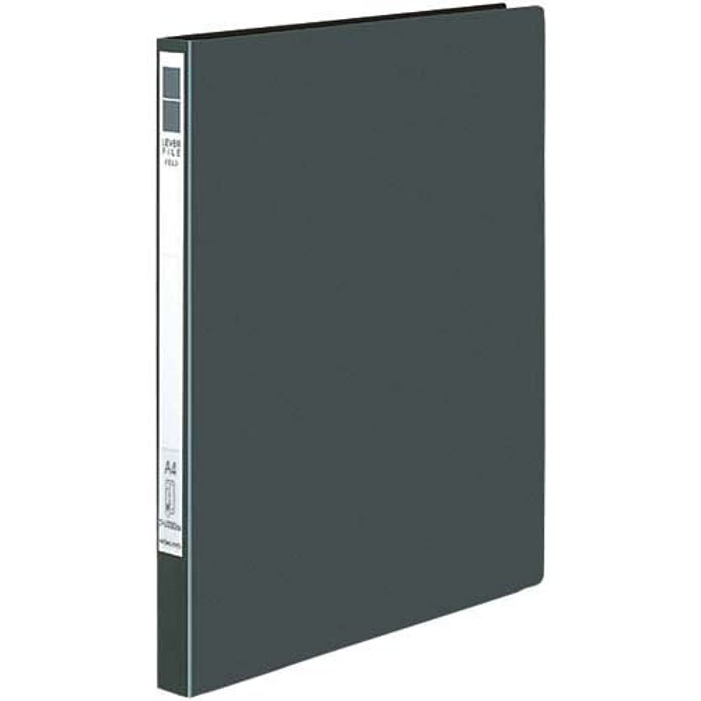 輝く最大限テクトニックコクヨ レバーファイル<Eze>A4縦12mm 濃灰10冊