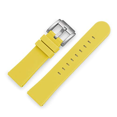 TW Steel Marc Coblen Reloj de pulsera reloj de pulsera Silicona 22mm Amarillo SB _ y _ S