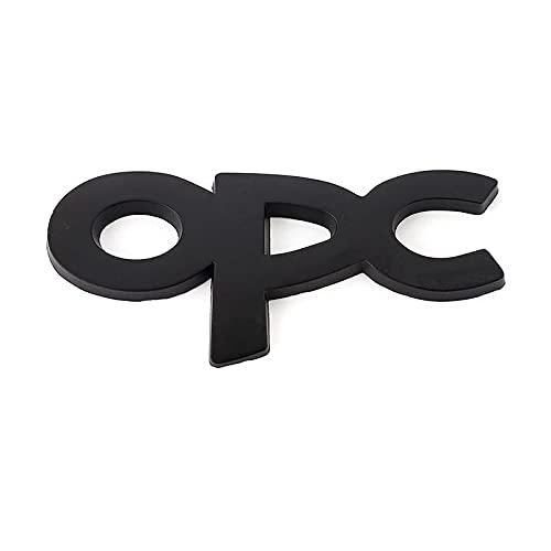 Emblema de repuesto Logotipo Etiqueta engomada del coche de metal Insignia Emblema Frente Hood Grille Decal Compatible con Opel OPC Logo Astra H G J K F Zafira A B Corsa B C D Mokkav Insignia Engomada