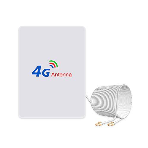 4G LTE Antenne 15dBi TS9 Stecker(Male) Dual Mimo TS9 Antenna Booster mit 2m Kabel für 4G LTE WiFi Router Mobiles Hotspots Huawei Huawei E5786 E5372, Vodafone, Telekom Speedport LTE
