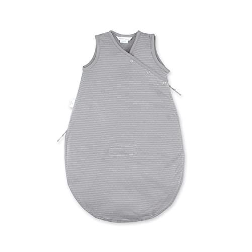 BEMINI Saco de dormir para bebés de 0 a 3 meses, diseño de rayas, color gris y beige