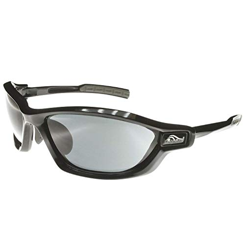 BIGWAVE Pro-Action 903 Black – Superentspiegelte Premium UV 400 Sportbrille mit 4 Wechselgläsern–Radsportbrille mit schmutzabweisender Clean-Coat Beschichtung mit Sehstärke für Damen und Herren