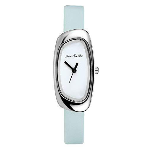 Relojes para Mujer Reloj Casual para Mujer Diales Irregulares Creativos Banda De Cuero De Cuarzo Reloj De Pulsera Analógico para Mujer