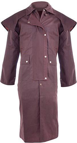 Acerugs All New Waterproof Brown Australian Oilskin Duster Coat Jacket (XX-Large)