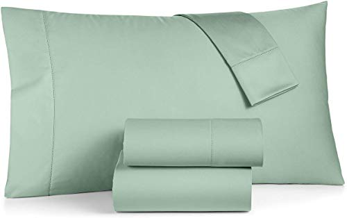 Charter Club Damask Solid 550 Thread Count Supima Cotton 4 Piece Queen Sheet Set Mint