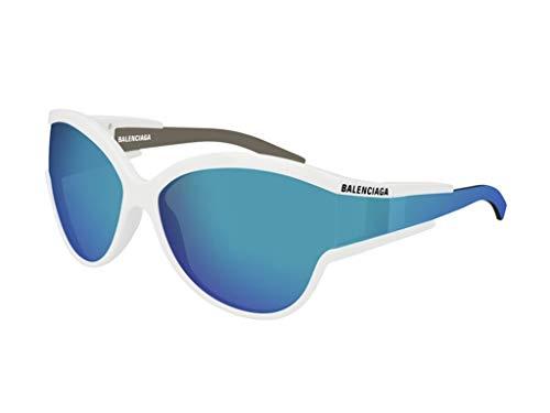 Balenciaga Gafas de sol BB0038SA 002 blanco azul tamaño de 62 mm de gafas de sol de las mujeres