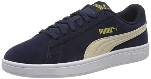 PUMA Unisex-Erwachsene Smash V2 Sneaker, Blau (Peacoat-Tapioca-Puma Team Gold-Puma White), 43 EU