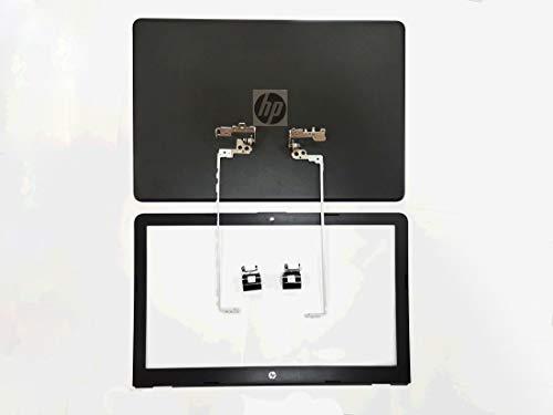 Repuesto para HP Pavilion 15-BS 15-BW 15T-BS 15Z-BW 250 G6 255 G6 TPN-C129 TPN-C130 LCD Tapa trasera Tapa superior y Bisel Delantero y Conjuntos de Bisel y Cubiertas (Negro)