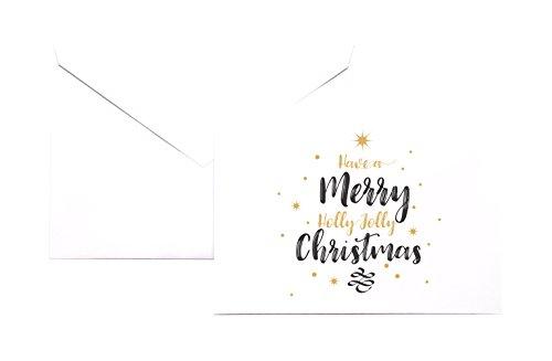 VinMea hebben een vrolijke kerst elegante briefpapier Note Card Set