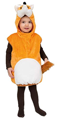 narrenkiste Oh2029-104-110 - Disfraz infantil de zorro, color beige y blanco