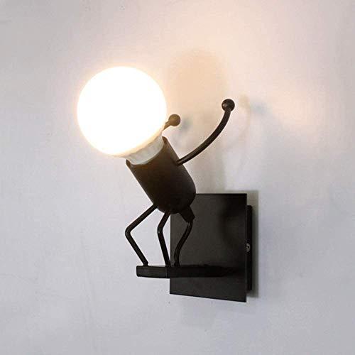 Applique Parete Retrò,Robot Lampada Murale,Vintage Lampada da Parete E27 per Bar Camera da Letto Camera da Letto Ristorante Caffetteria