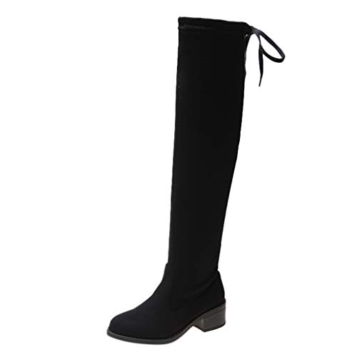 Why Should You Buy Hopwin Women's Over The Knee Thigh High Boots | Ladies Faux Suede Stretch Boots F...