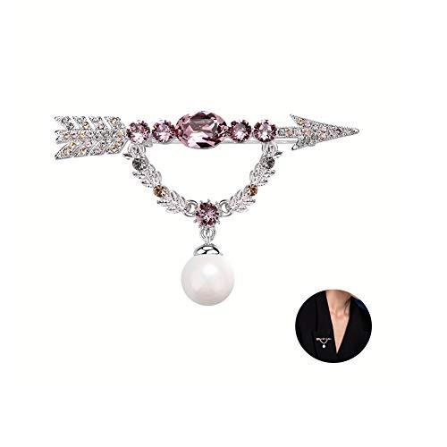 MLSJM Dames Broche Pin, High End Luxe Cupido's Pijl Crystal Brooches, Kostuum Accessoires Badge Pin Naald, Prachtige geschenken voor haar
