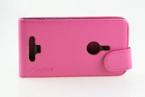 Unbekannt téléphone de Poche de Sac de Couverture de chiquaude de rtabilisation Bumper Nokia Lumia 925 Smartphone Rose foncé Business Case
