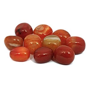 CrystalAge Carnelian Tumble Stone (Brazilian) (20-25mm) - Pack of 5