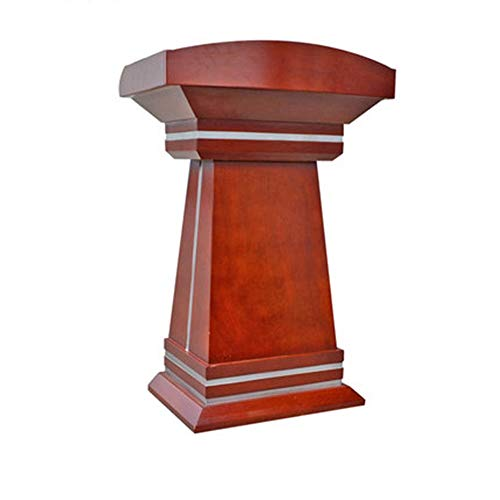 ROGF Pulte & Podien Tisch-Hosting-Rezeption Präsentationspodium for Boden Katheder Podium aus Holz Hoch Podium Für Konferenzraum (Color : Brown, Size
