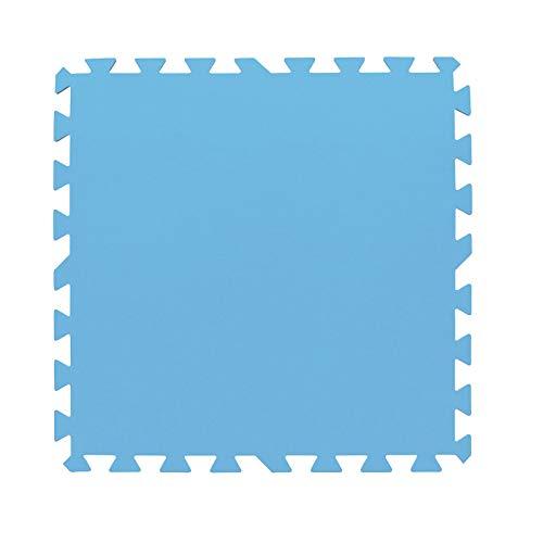 HAC24 8 Stück Pool Bodenschutzmatte Schutz Fliesen Bodenschutz Poolmatte Fitness Bodenmatte Unterlegmatte Poolunterlage 50x50cm Blau