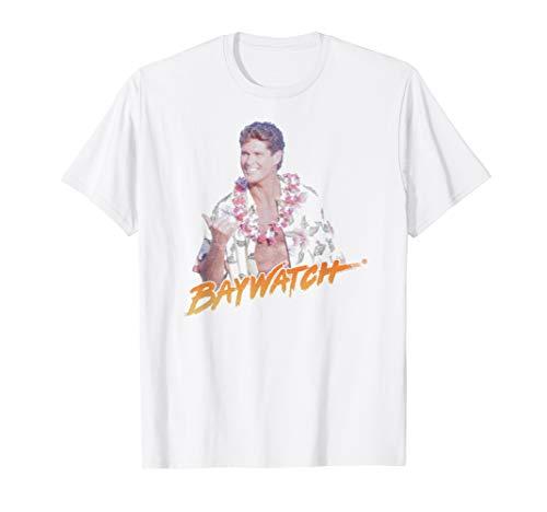 Baywatch Hawaiian Theme Mitch Hasselhoff T-Shirt, Adults  and Kids Sizes