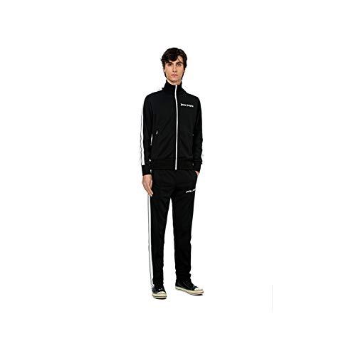 dears Angels Schwarz und Weiß Streifen Anzug Sportjacke Casual Mantel Lange Hosen Mode Anzug Sweatpants Aprikose Gr. L, farbe