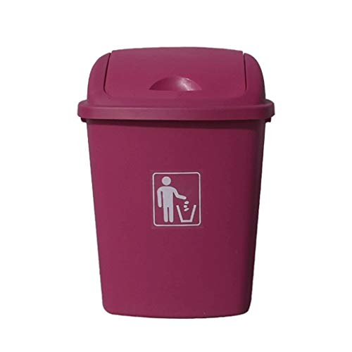 Read About JHEY Plastic Outdoor Dustbins Shake-top Home Kitchen Trash Can Bins School Store Storage ...