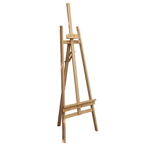 Easy Kunst Staffelei Holzstaffelei Kiefernholz Standstaffelei Atelierstaffelei 1.43M Hoch aus Kiefer