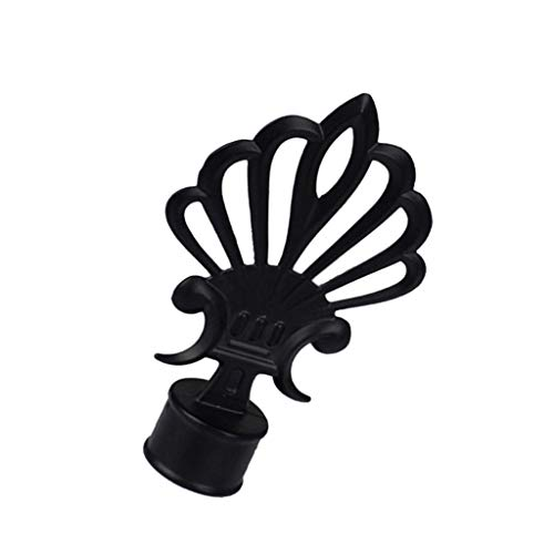 Pingrog 1 stuk Retro Oslash 28 mm gordijnroede eindstukken eindstukken unicum koppen zwart A Oosterse middenzee stijl design rustieke ornament gordijnen montage accessoires
