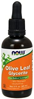 Now Foods Olive Leaf Extract, 2 OZ 18% STD GLYCERITE (Pack of 2)