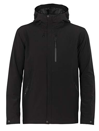 Icebreaker Merino Men's Stratus Transcend Hooded Jacket Down Alternative Outerwear Coats, Small, Black