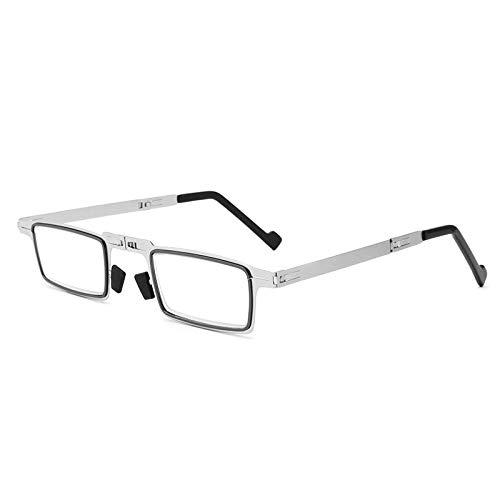 YAeele Gafas Lectura Anti-Azules, Plegables ultraligeras sin Tornillos Gafas Lectura antifatiga Gafas Plegables Anti-Ultravioleta