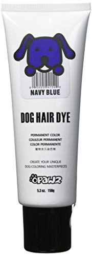 Owpawz Dog Hair DYE Gel - New Bright, Fun Shade, Semi-Permanent, Completely Non-Toxic and Safe (Navy Blue)
