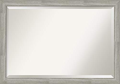 Amanti Art Framed Vanity Mirror | Bathroom Mirrors for Wall | Dove -