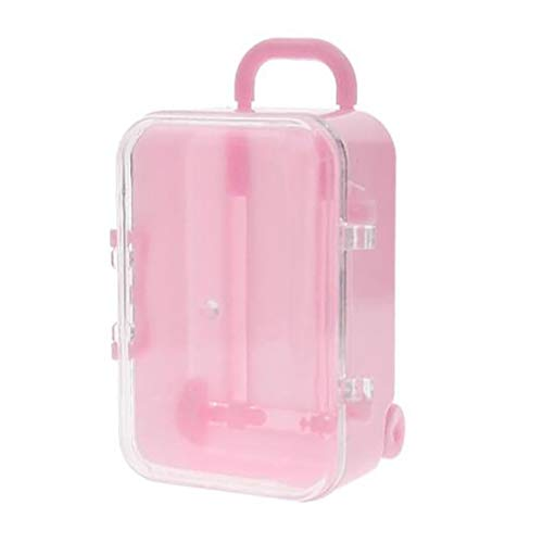 LilyJudy Rosa rodillo maleta de viaje caja de caramelo personalidad boda caramelo caja equipaje carro caramelo caja pequeño caja de almacenamiento