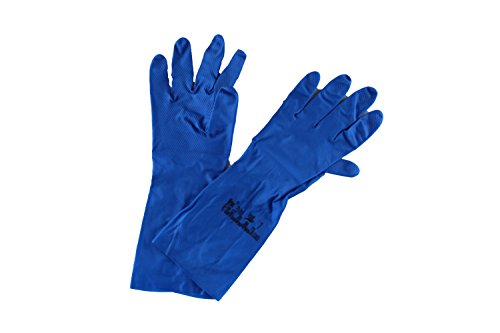 10x Ansell Virtex 79-700 Guanti in nitrile Blu Gr. 7, Dimensione:7