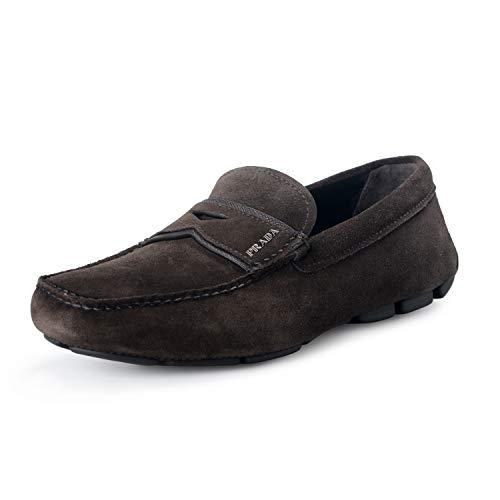 Prada Herren Braun Leder Business Schuhe 2DD155 MF3 F0003 43 EU/UK 9
