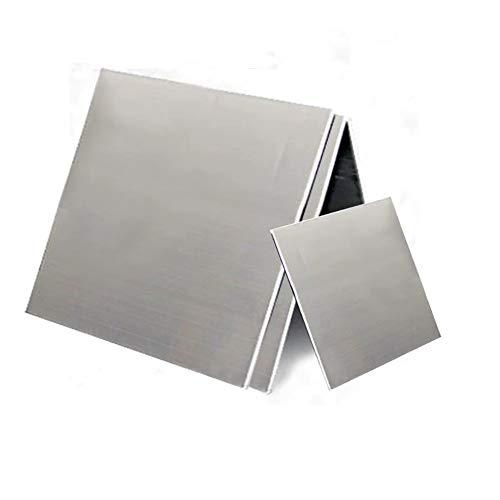SZQL Weiß Kupferfolie, Zinkplatte Nickel Kupfer-Platte für DIY Kunsthandwerk, Industrie,200x200x0.2mm