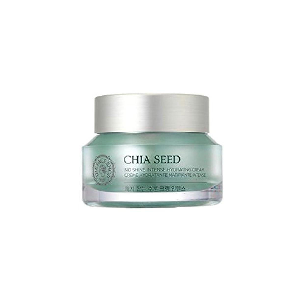 ベース通常路地[ザ·フェイスショップ]The Face Shop チアシードノーシャインインテンス水分クリーム(50ml) The Face Shop Chia Seed No Shine Intense Hydrating Cream(50ml) [海外直送品]