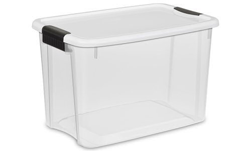 Find Bargain Sterilite 30 Quart Liter Storage Clear Boxes, Heavy Duty Plastic Box With Secure Latche...