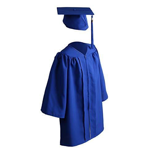 OSBO GradSeason Unisex Matte Kindergarten Graduation Gown Cap Tassel Set 2021 (Royal, 30, numeric_30)