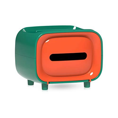 Gwotfy Caja de pañuelos, Soporte para Caja de pañuelos 2 en 1, Caja de pañuelos portátil, bolígrafo Multifuncional, lápiz, Caja de pañuelos con Control Remoto para Uso doméstico y de Oficina